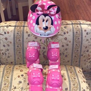 Minnie Mouse set of bicycle protection